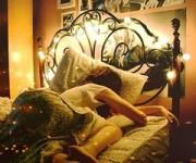 ベッドの照明5