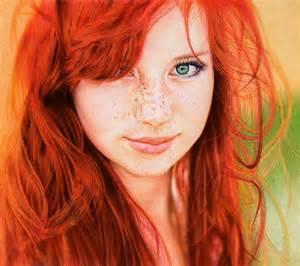 赤髪,美しい,白人画像