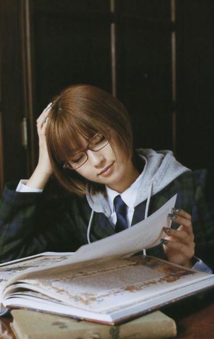 メガネが似合う 眼鏡美女の画像6