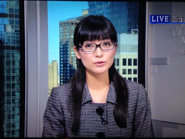 眼鏡をかけた美人女子アナウンサー画像16