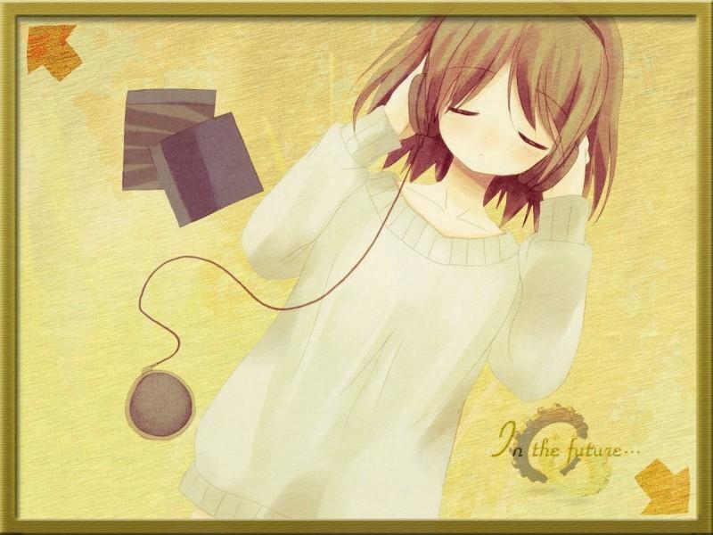ヘッドフォンや音楽系の女の子イラスト画像集32
