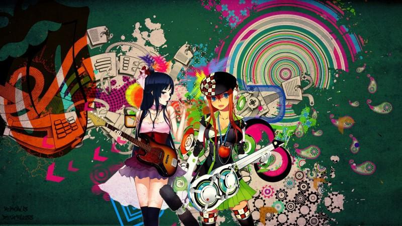ヘッドフォンや音楽系の女の子イラスト画像集68