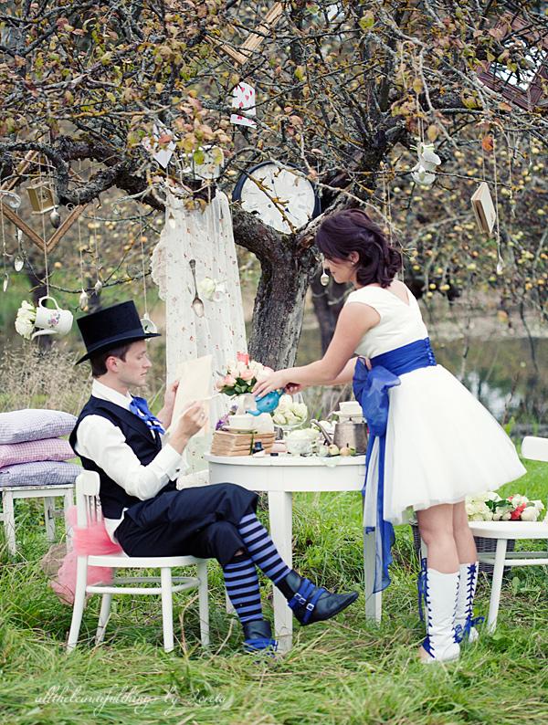 不思議の国のアリスっぽい結婚式が素敵な画像10