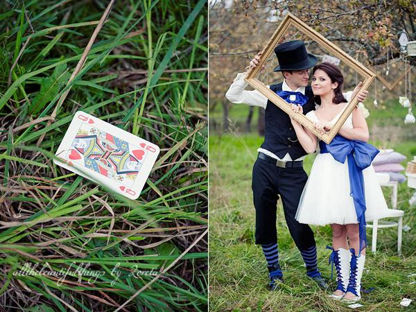 不思議の国のアリスっぽい結婚式が素敵な画像11