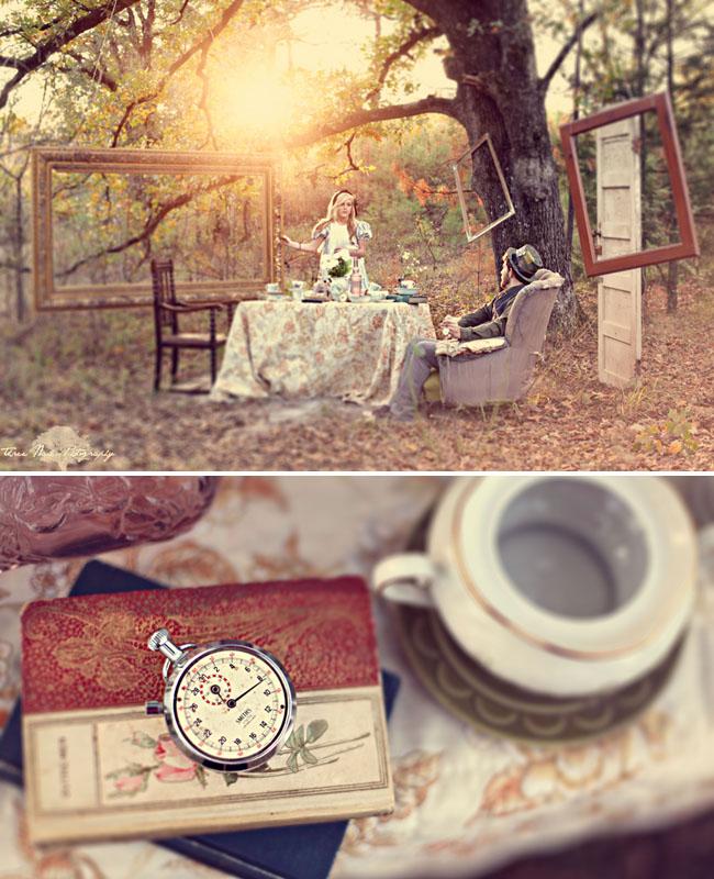 不思議の国のアリスっぽい結婚式が素敵な画像122