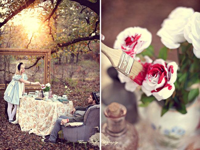 不思議の国のアリスっぽい結婚式が素敵な画像127