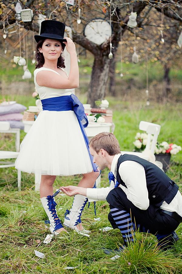 不思議の国のアリスっぽい結婚式が素敵な画像13