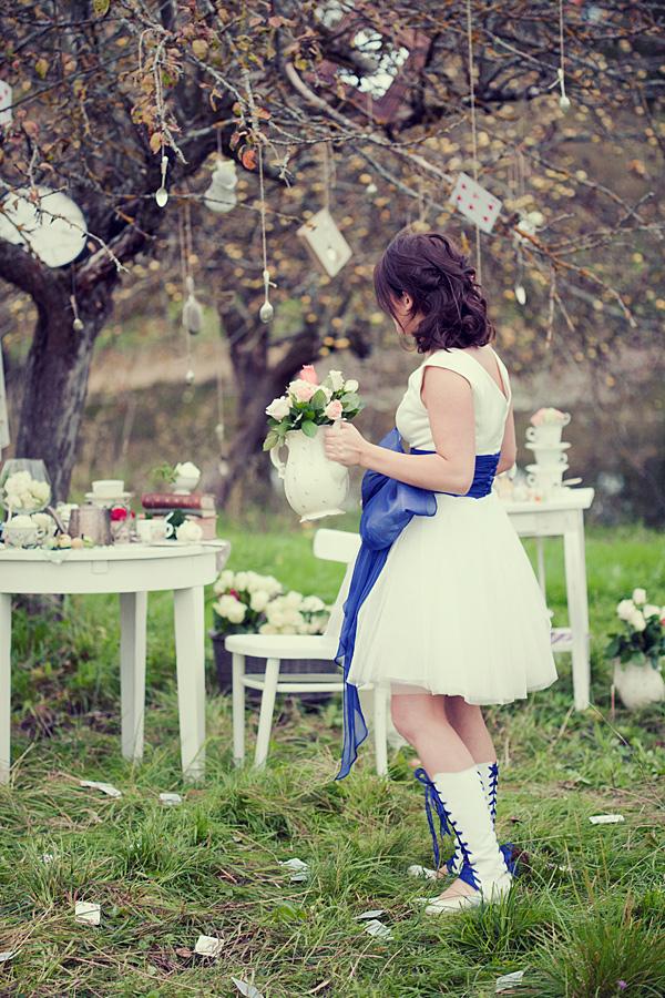 不思議の国のアリスっぽい結婚式が素敵な画像14