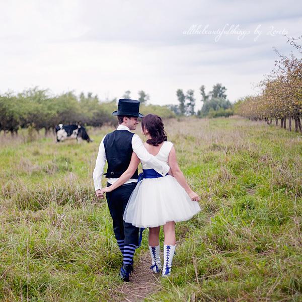 不思議の国のアリスっぽい結婚式が素敵な画像15