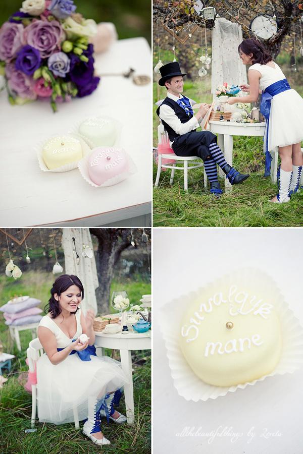不思議の国のアリスっぽい結婚式が素敵な画像16