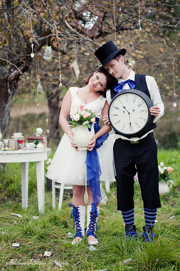 不思議の国のアリスっぽい結婚式が素敵な画像17