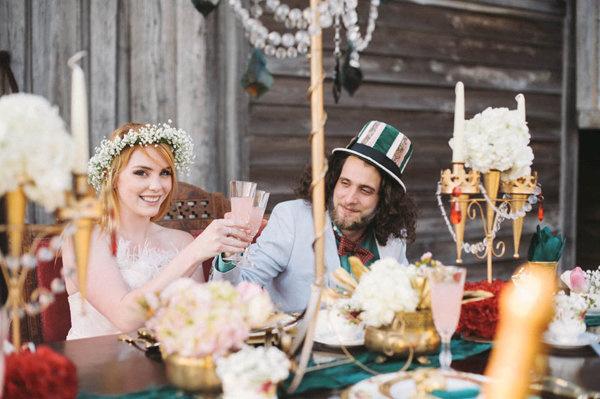 不思議の国のアリスっぽい結婚式が素敵な画像31