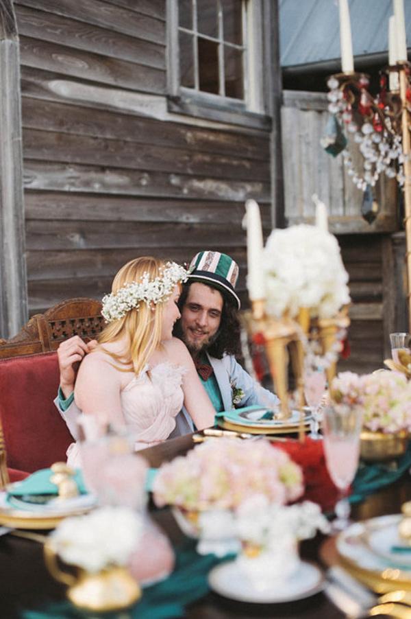 不思議の国のアリスっぽい結婚式が素敵な画像32