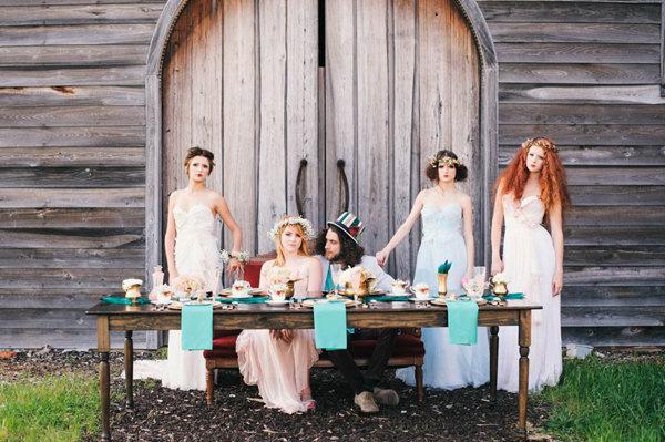不思議の国のアリスっぽい結婚式が素敵な画像33