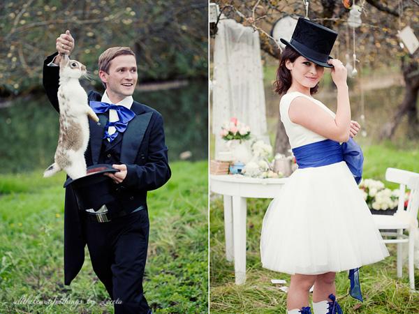 不思議の国のアリスっぽい結婚式が素敵な画像4