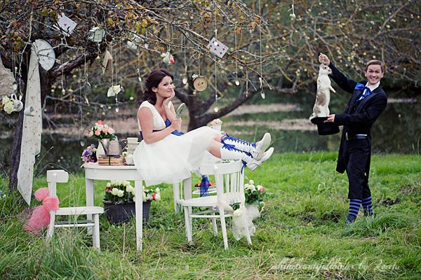 不思議の国のアリスっぽい結婚式が素敵な画像5