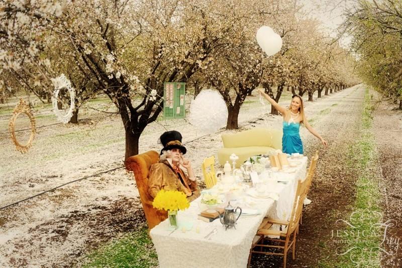 不思議の国のアリスっぽい結婚式が素敵な画像53