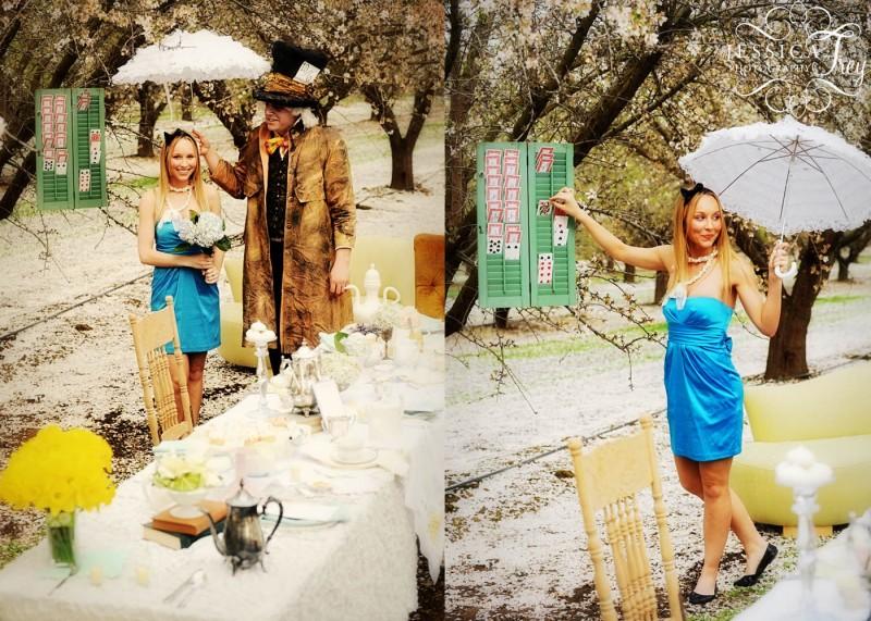 不思議の国のアリスっぽい結婚式が素敵な画像57