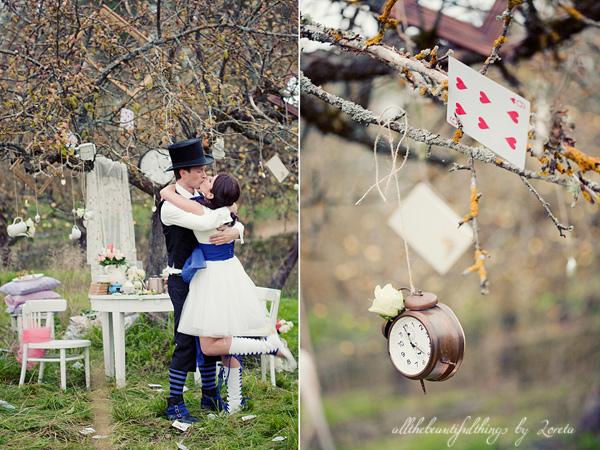 不思議の国のアリスっぽい結婚式が素敵な画像7