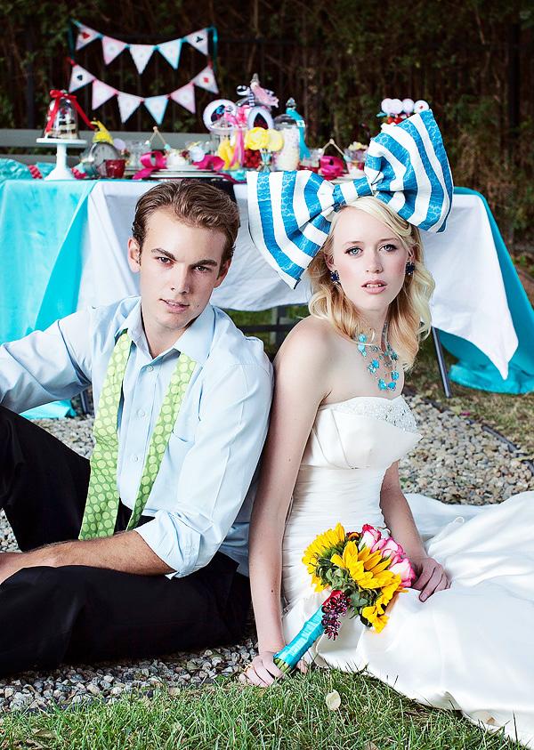 不思議の国のアリスっぽい結婚式が素敵な画像70