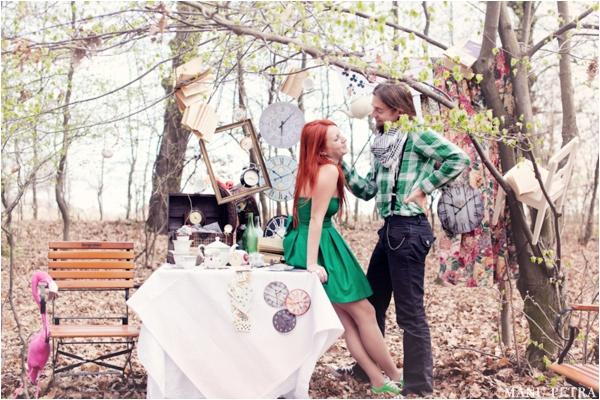 不思議の国のアリスっぽい結婚式が素敵な画像92