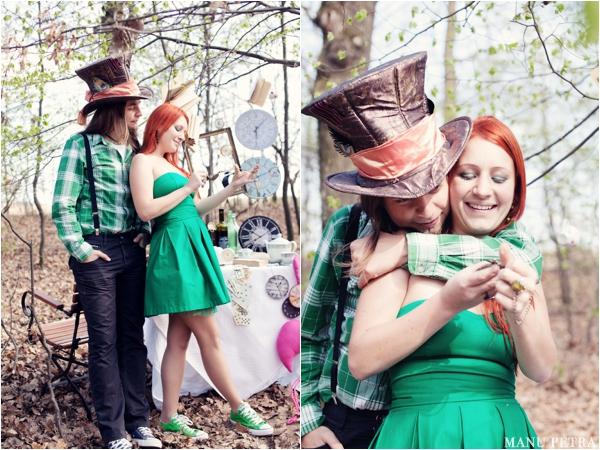不思議の国のアリスっぽい結婚式が素敵な画像95