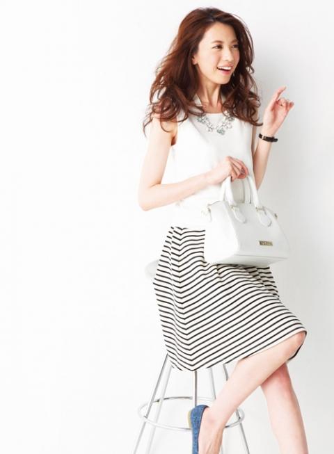 春夏トレンドファッションコーデ「スカート」5