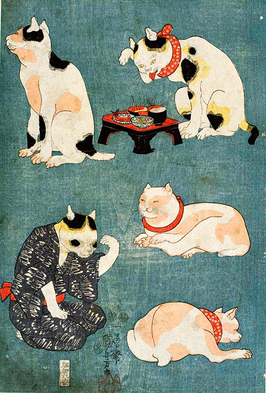 猫の浮世絵3