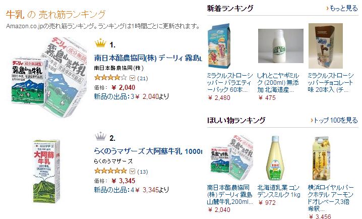牛乳ランキング