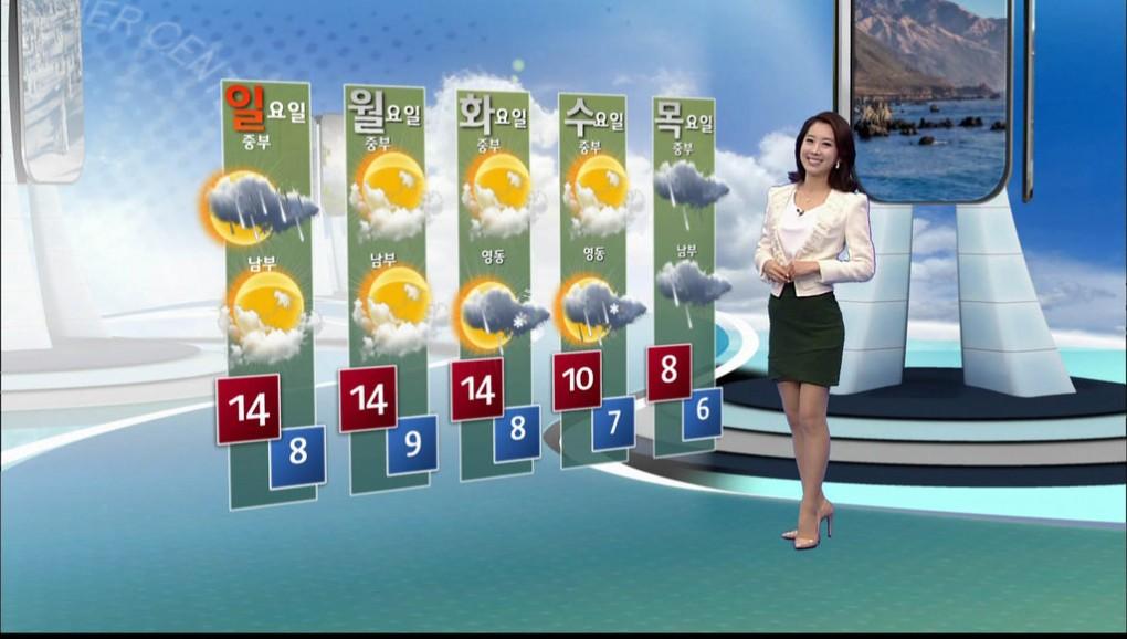 韓国の女子アナのスタイルがよかった.2