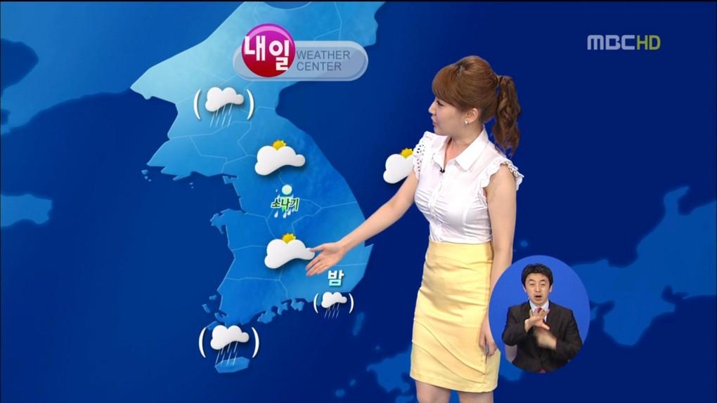 韓国の女子アナのスタイルがよかった.32