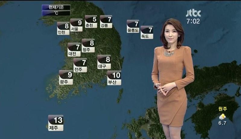 韓国の女子アナのスタイルがよかった.36