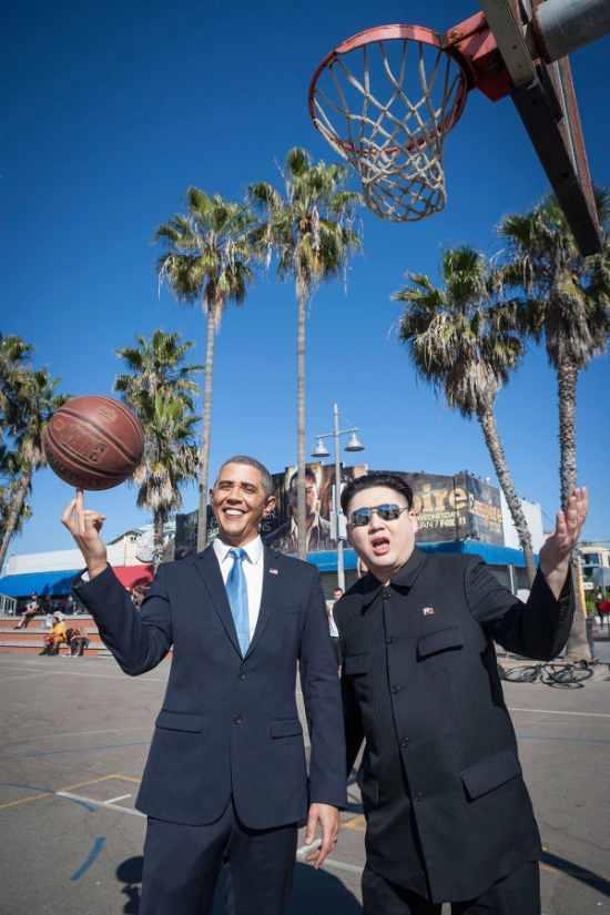オバマさんと金正恩さんのツーショット5