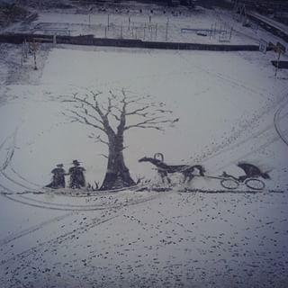 雪かきアート11