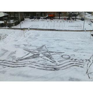 雪かきアート14