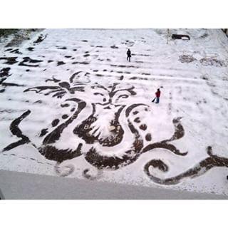 雪かきアート15
